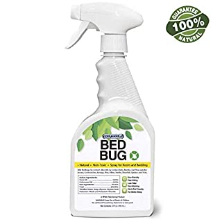 Bed Bug Organic Killer Spray, Fast and Sure Kill with Extended Residual Protection, Natural & Non-Toxic, Child & Pet Friendly-22 oz
