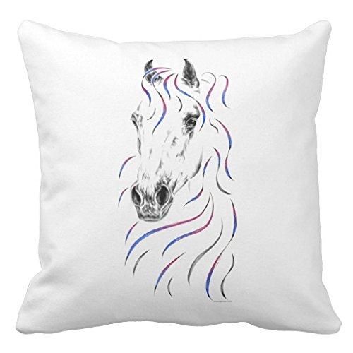 Zazzle Stylish Arabian Horse Throw Pillow 20'' x 20'' by Zazzle