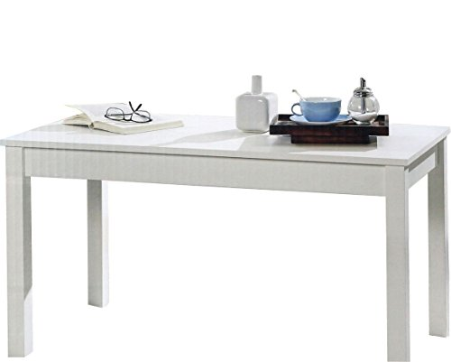 Wohnzimmertisch / Couchtisch eckig in weiß 110x47x57 cm