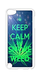 BlackKey keep calm and smoke weed Snap-on Hard Back Case Cover Shell for Apple iPod Touch 5th Generation 5G 5 -605