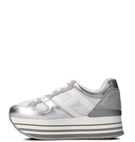 Women's Hogan HXW2830U352IJL0QAM Sneakers Silver Leather 8qSdvw