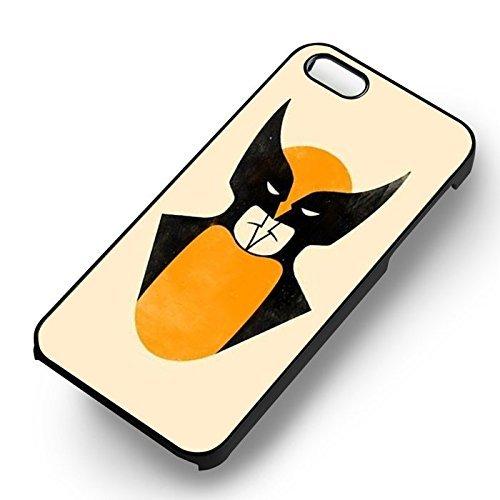 Wolverine Or Batman pour Coque Iphone 6 et Coque Iphone 6s Case (Noir Boîtier en plastique dur) U8P7UP