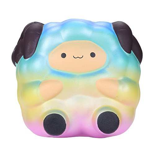 Oldeagle Jumbo Rainbow Sheep Scented Slow Rising Pressure Squeeze Stress Reliever Toy for Kids and Adults -