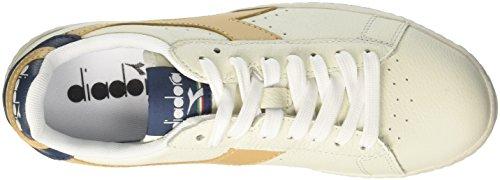 Uomo Low Waxed Bianco Bianco Diadora Beige Juta Game Sneaker L RXqTyTc1fE
