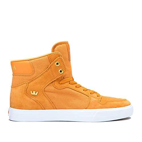 (Supra Vaider, Color: Desert/Gold-White, Size: 8 (08044-283-M-8) )