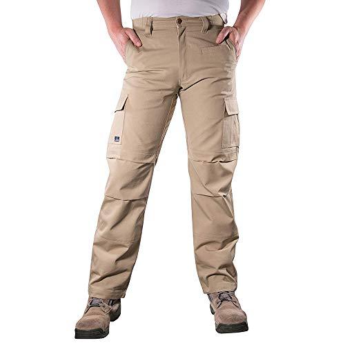 Canvas Trousers - LA Police Gear Urban Recon Cotton Canvas Tactical Cargo Work Pant - Khaki - 34 x 30