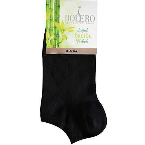 4 pairs Antibacterial 80% Organic Bamboo Fiber No Show Cycling Healthy Half Socks For Men (4 pairs black) ()