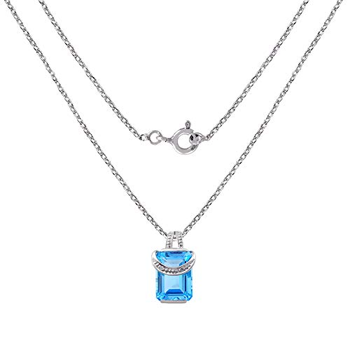 az & Diamond Charm Sterling Silver Pendant for Women by Orchid Jewelry ()