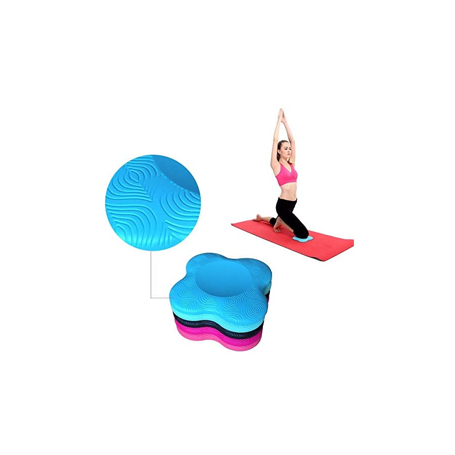 Yoga Knee Pads 2 Pack + Travel bag,Yoga Mat Pain Free Fitness Exercise Workout Support Comfort For Knee Hand Wrist Head Shoulder & Elbow. ECO Friendly PU Foam Eliminates & Protects Joints Injuries.