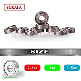 Part & Accessories YUKALA 2.5*6*1.8mm Bearing 10pcs for Remote Control RC Helicopter Generic