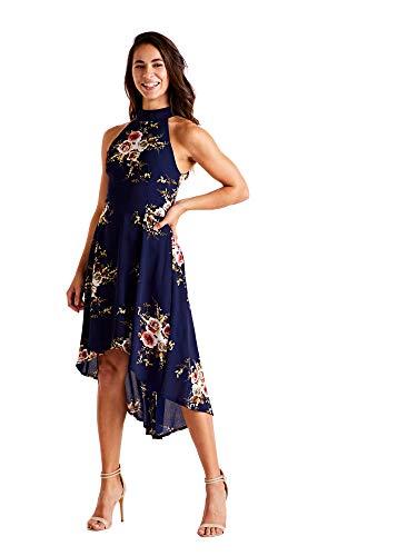 Low Marino Dress Navy Highneck High Azul 7wEW7gznq
