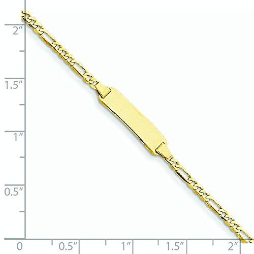 14carats-Bracelet d'identité maille figaro-17,8cm-2,25mm-Homard Griffe-16