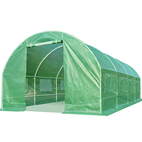 Quictent 20 x10 x7 feet 2 Doors Portable Greenhouse Large Heavy Duty Walk-in Green Garden Hot House 10 Vents
