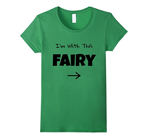 Womens I'm WIth This Fairy Halloween Party Costume T-Shirt Small (Autumn Fairy Halloween Costume)