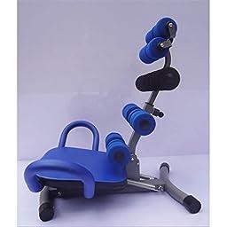 Rhegeneshop Adjustable Abdominal Machine Fitness Home Gym Exercise Crunch Rocket Chair