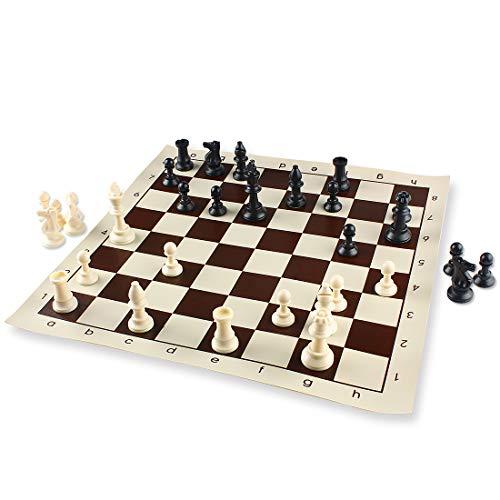 Andux Juego de ajedrez Completo Tablero Plegable Casillas QPXQ-02 (42x42cm)