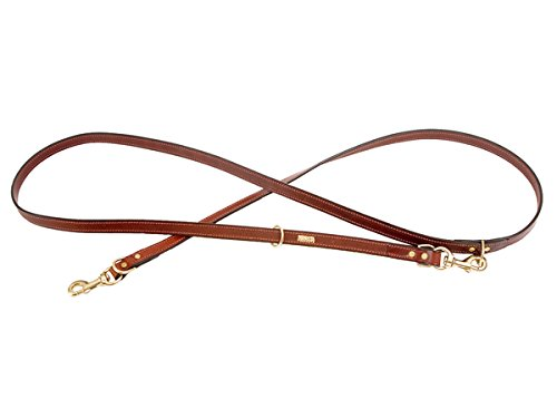 Mendota Pet Jaeger Leather Dog Lead, Chestnut, 3/4-Inch x 8-Feet