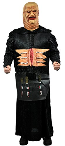 Pinhead Fancy Dress Costumes (Papermagic Mens Scary Hellraiser Movie Butterball Pinhead Fancy Costume, Large (46-48))