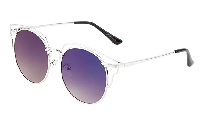 Amazon.com: Glamour Wireframe Round Sunglasses with Outline Design ...