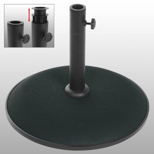 Beton-Sonnenschirmstnder-Schirmstnder-Schwarz-15kg