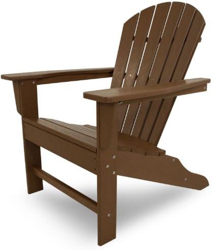 Poly-Wood SBA15TE South Beach Adirondack Chair, Teak