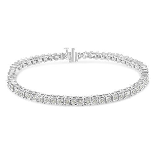 Original Classics 1.0 Ct Rose-Cut Square Frame Diamond Tennis Bracelet – Flawless Style with Brilliant Shine