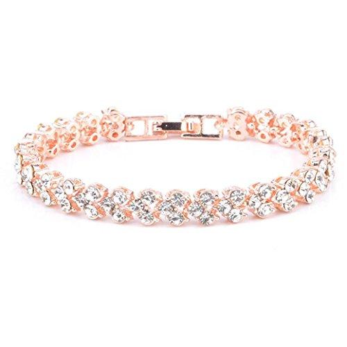 Wondere New Fashion Latest Custom Personalized Mermaid Flip Shiny Sequin Bracelet (Rose Gold)