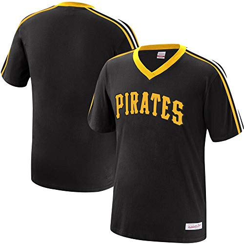 - Mitchell & Ness Pittsburgh Pirates MLB Men's Overtime Win Vintage V-Neck T-Shirt (X-Large)