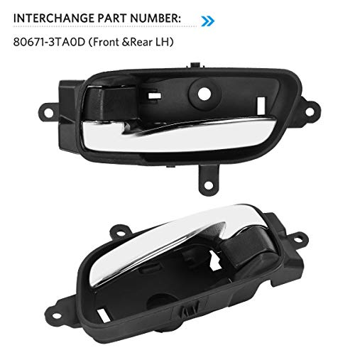 Altima Replacement 80671-3TA0D YITAMOTOR Chrome Front or Rear Left Driver Side Door Handle Compatible for 2013-2015 Nissan Pathfinder