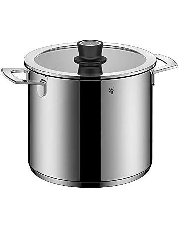 WMF Vario Cuisine-Olla Alta 24cm con termómetro Integrado, Cromargan, Acero Inoxidable