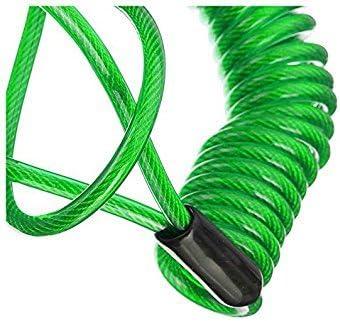 TOOGOO Verrou De S/éCurit/é pour Disque Dalarme 120cm Sac Anti-Vol Cable Vert De Rappel De Frein Et De Ressort De Disque De Roue De Moto