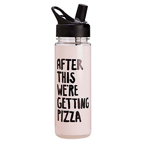 Ban.do Work It Out After This We're Getting Pizza Water Bottle, - Pop Ban
