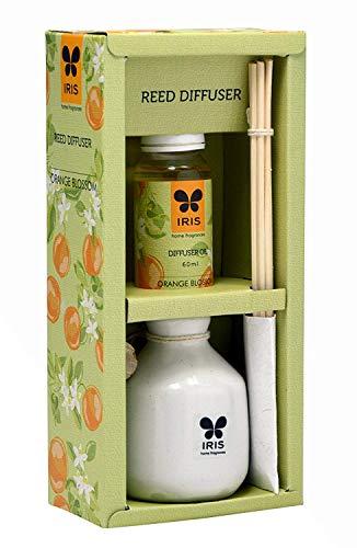 Iris Reed Diffuser With Ceramic Pot - Orange Blossom Home Fragrances