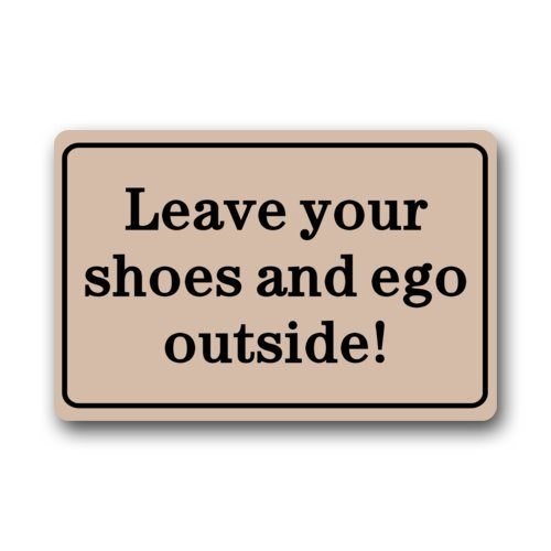 Incroyable Amazon.com : Clean Machine Doormat Leave Your Shoes And Ego Outside Door Mat  : Garden U0026 Outdoor