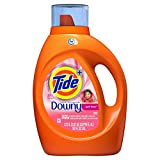 Tide Laundry Detergent Liquid Plus Downy April Fresh Scent, HE Turbo Clean, 92 oz, 59 loads (Packaging May Vary)