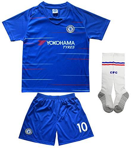 450a71fa6 LES TRICOT 2018 2019 Chelsea Home  10 Hazard Football Futbol Soccer Kids  Jersey Shorts