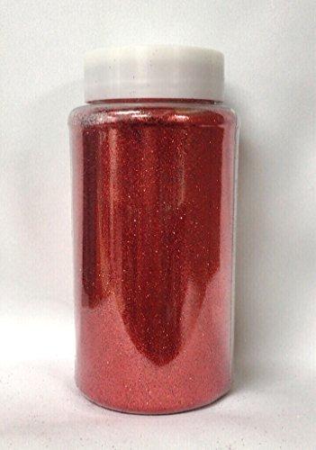 Ben Collection 1-Pound Glitter Powder Bottle Art Craft (Red) ()