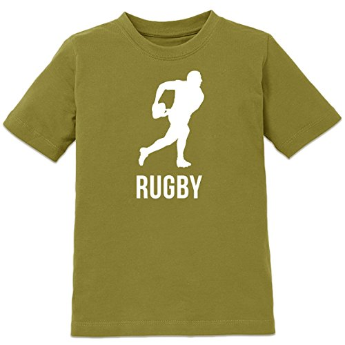 Shirtcity Rugby Player With Ball Kids' T-shirt 122-128 Green