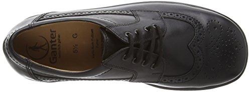 Ganter ERIC, Weite G - zapatos con cordones de cuero niños Negro