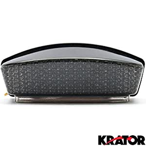 Krator® Ducati Monster Smoke LED TailLights Brake Tail Lights with Integrated Turn Signals Indicators - Dark, ie, S, Capirex, Cromo, Dark City and More! (1994-2008)