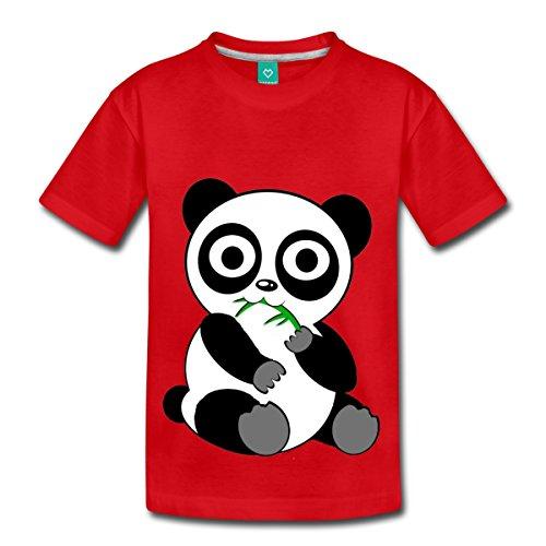 cute-animals-panda-eating-kids-premium-t-shirt-by-spreadshirt-youth-xs-red