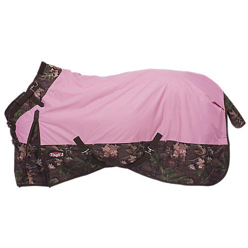 Tough 1 Timber 1200D Waterproof Poly Snuggit Turnout Blanket, Pink, 69''