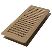 Decor Grates PL412-TA 4-Inch by 12-Inch (Duct opening measurements) Plastic Floor Register, Taupe