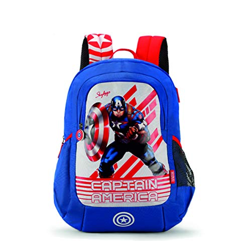 Skybags SB Marvel Champ 06 18 Ltrs Blue Casual Backpack (SBMRC06EBLU)