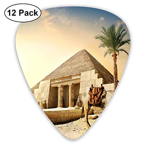 V5DGFJH.B Egypt Camels Cairo Pyramid Classic Guitar Pick Player's Pack for Electric Guitar,Acoustic Guitar,Mandolin,Guitar Bass