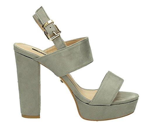 fbfe21dbfe8c King Of Shoes Damen Riemchen Abend Sandaletten High Heels Pumps Slingbacks  Velours Peep Toes Party Schuhe