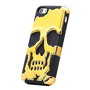 Electroplating Skeleton Design Protective Hard Case For iPhone 5C(Assorted Color) --- COLOR:Red