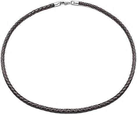 Tribal Steel 500 mm Collar de hombre o de mujer en cuero marron - 500 mm es la talla más popular