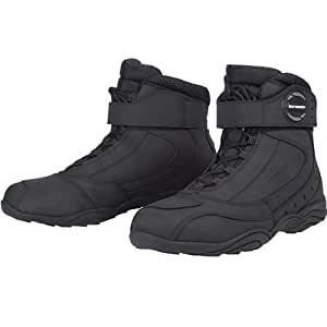 Tour Master Response WP 2.0 Road Men's Leather On-Road Motorcycle Boots - Black / Size 14