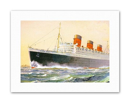 SHIP SAIL BOAT RMS QUEEN MARY Picture Painting Canvas art (Queen Mary Ship Pictures)